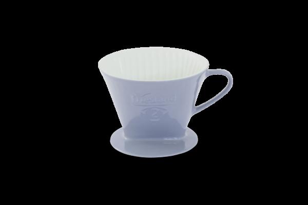 Porzellan Kaffeefilter Gr. 2 Steingrau