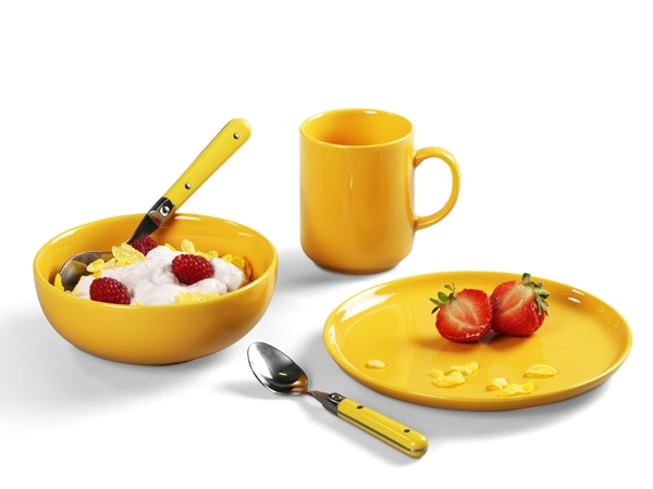 Happymix Safrangelb Frühstücks-Set von Friesland