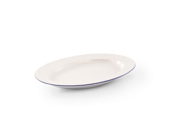 Platte Bel Air Marine Porzellan mit blauem Rand