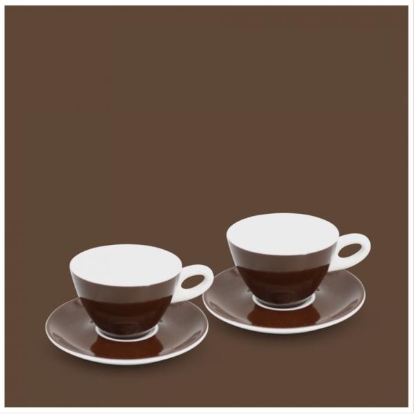 Milchkaffee-Set 4tlg. Alta Dunkelbraun