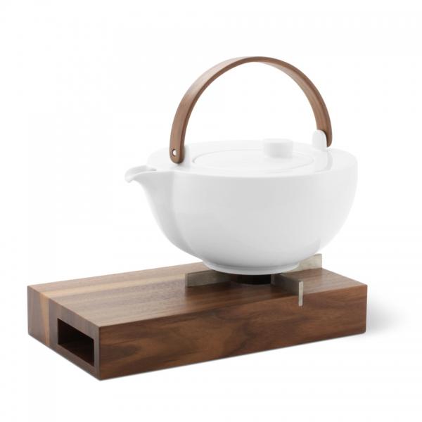Teekanne/ Stövchen Set Chai Nussbaum