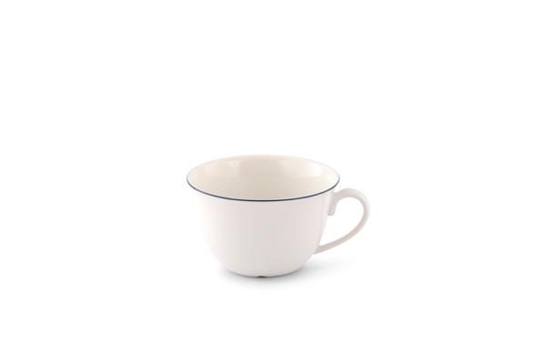 Teetasse Bel Air Marine Porzellan mit blauem Rand