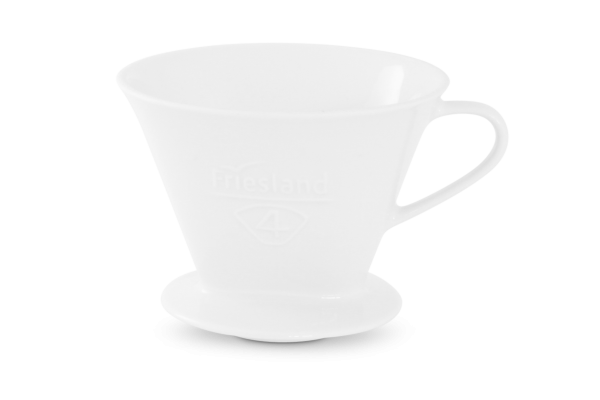 Porzellan Kaffeefilter Gr. 4 Weiß