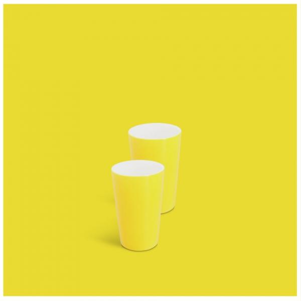 Milchbecher-Set 2tlg. Classic Gelb