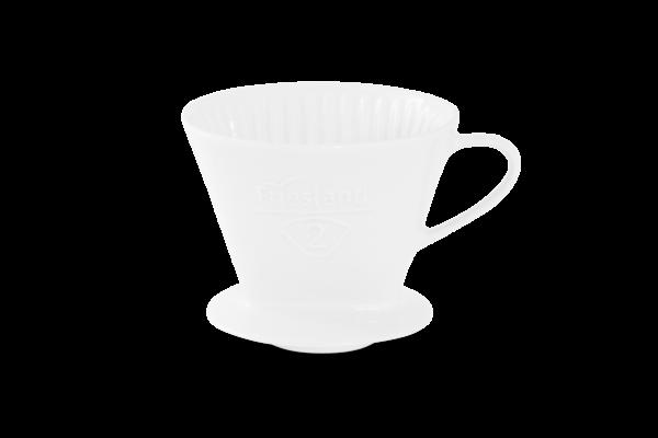 Porzellan Kaffeefilter Gr. 2 Weiß