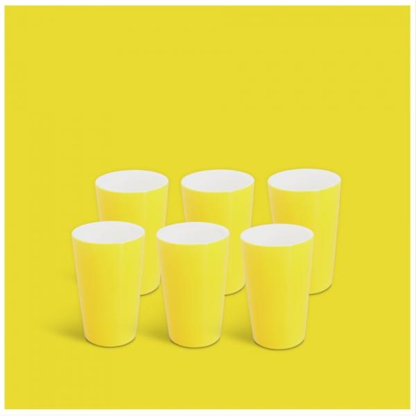 Milchbecher-Set 6tlg. Classic Gelb
