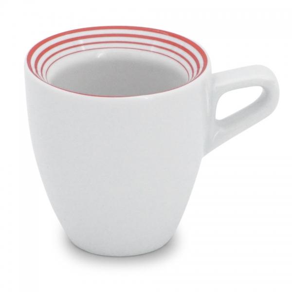 Espressotasse 0,08l Rossi Linien-Mix Rot