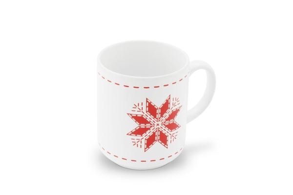 Becher Happymix Winterzauber mit Schneeflocke von Friesland