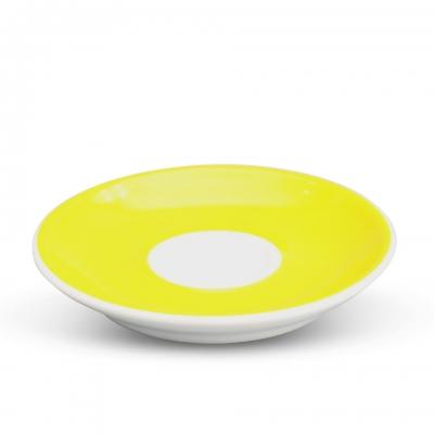 Espresso Untertasse 11,5cm Alta Gelb Spiegel Weiß Walküre Porzellan