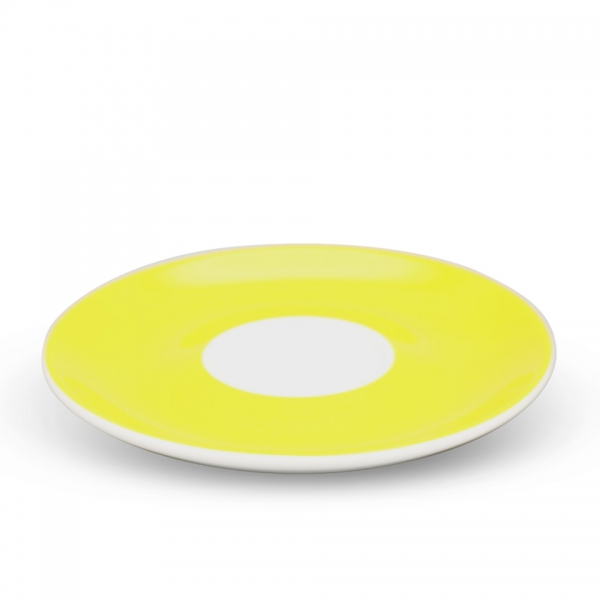 Milchkaffee Untertasse, 16cm Alta Gelb Spiegel Weiß