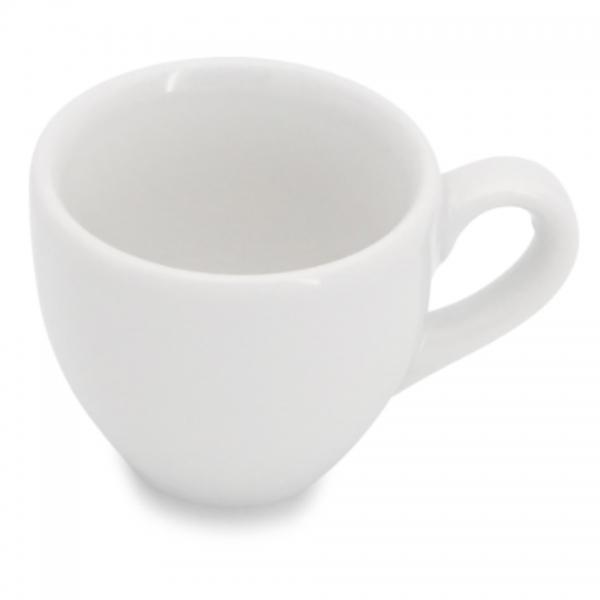 Espressotasse, mit glatten Henkel 0,08l Classic Weiß