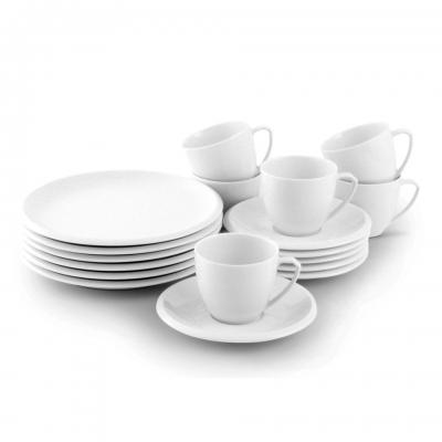 Friesland Kaffee-Service 18tlg Ecco Weiß
