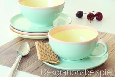 Cappuccino Tasse 2tlg. KoriART Pastellgrün