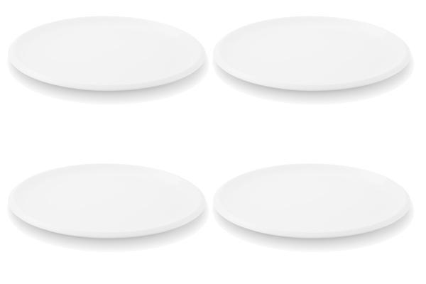 Viererset Speiseteller Ecco Weiß Friesland Porzellan