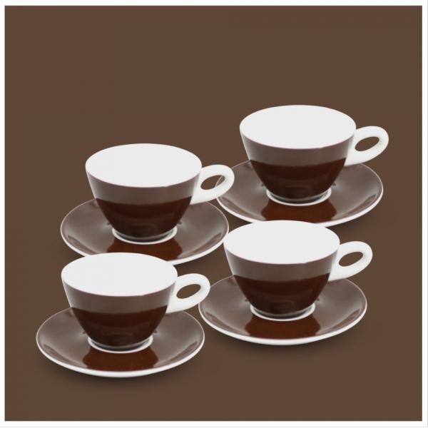 Milchkaffee-Set 8tlg. Alta Dunkelbraun