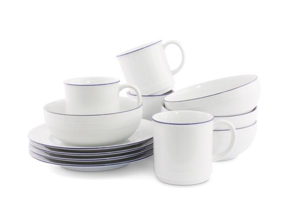 Jeverland Kleine Brise Frühstücksset für 4 Personen Friesland Porzellan