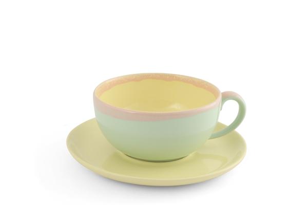 KoriART Cappuccino Tasse Pastell gelb Friesland