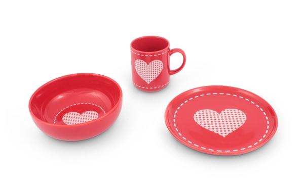 Alles Liebe zum Frühstücks-Set mit Herz von Friesland