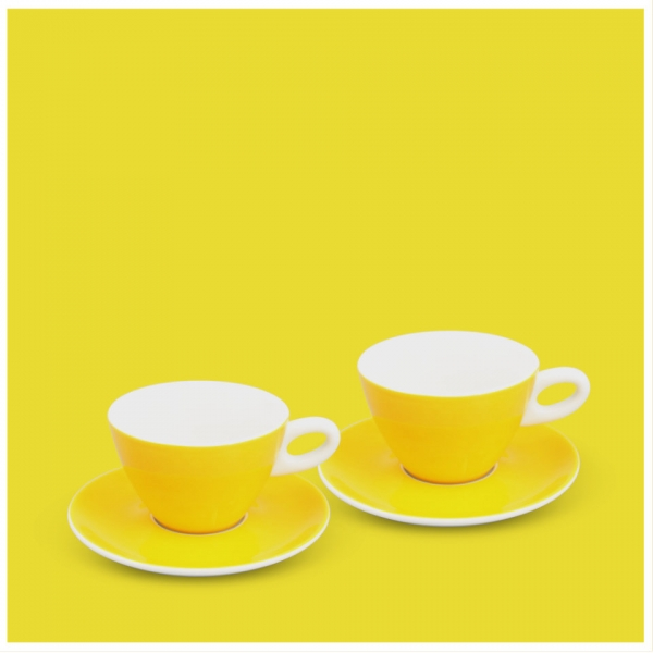Milchkaffee-Set 4tlg. Alta Gelb