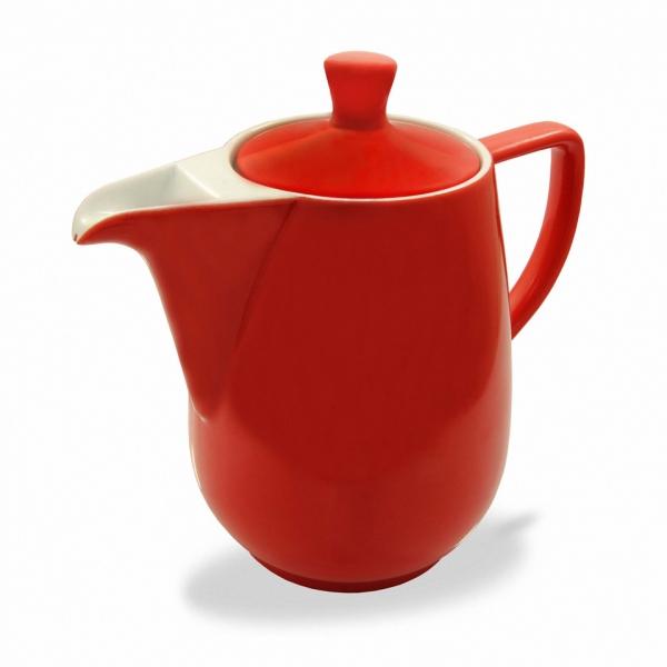 Friesland Kaffeekanne Rot 0,35l Porzellan