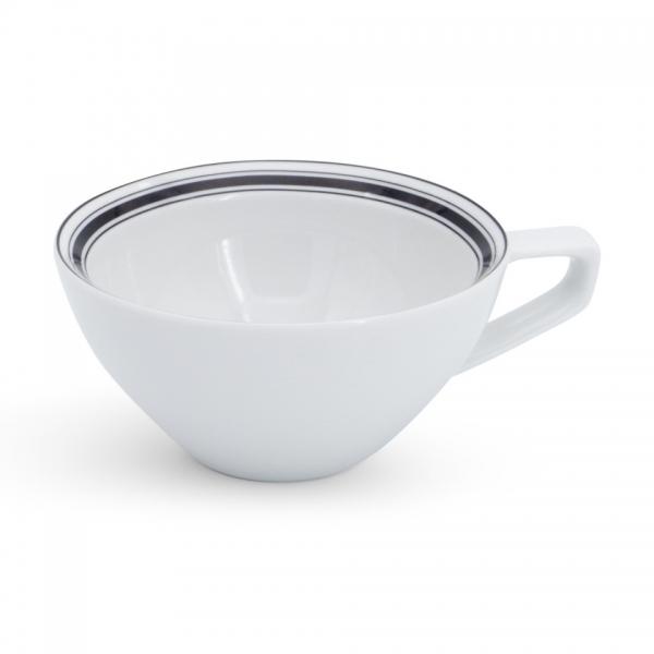 Milchkaffeetasse, 0,25l Rossi Linien-Mix Schwarz