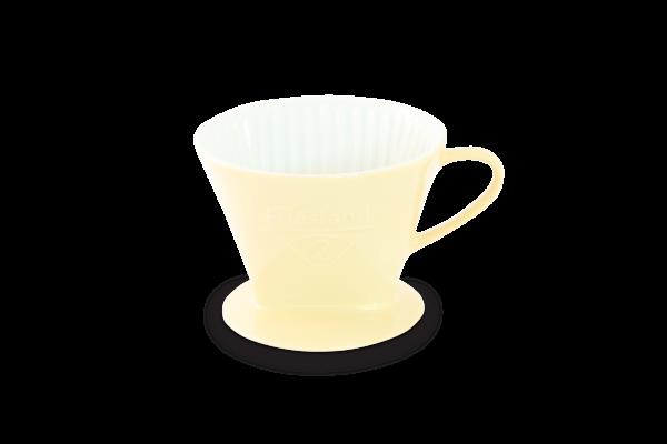 Porzellan Kaffeefilter Gr. 2 Pastellgelb