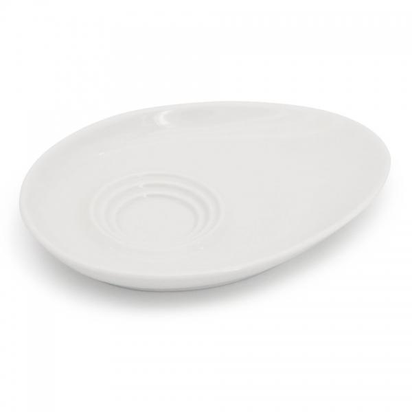 Kombi-Untertasse mit Keksablage 16,5x12,5cm Alta Weiß