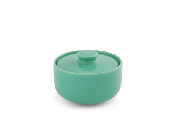 Zuckerdose Trendmix Jade-Grün Friesland Porzellan