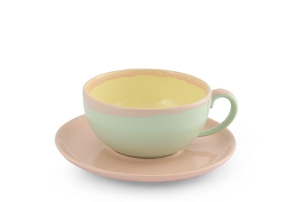 KoriART Cappuccino Tasse Pastell rosa Friesland