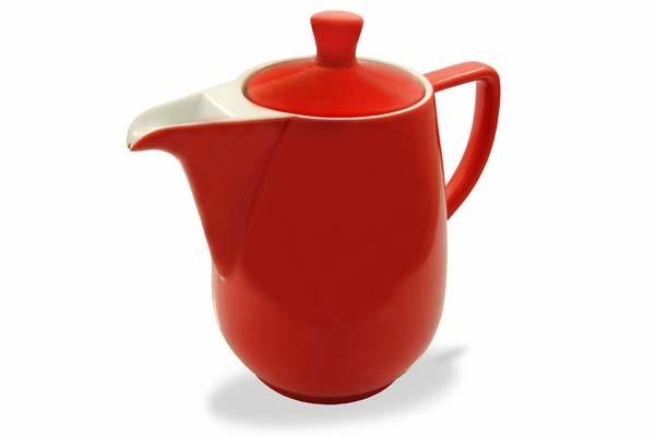 Kaffeekanne Rot Friesland Porzellan