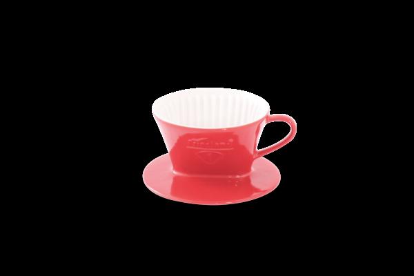Porzellan Kaffeefilter Gr. 1 Tassenfilter Rot