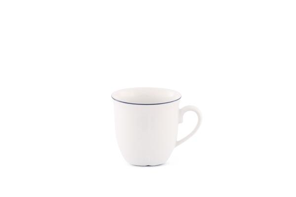 Kaffeetasse Bel Air Marine Porzellan mit blauem Rand