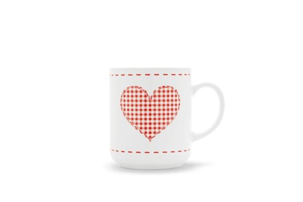 4er-Set Becher Herz 0,25l Happymix Weihnachten Weiß