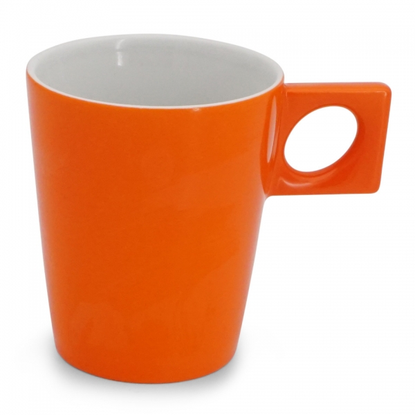Kaffeebecher 0,3l Leuchtorange NYNY Walküre Porzellan