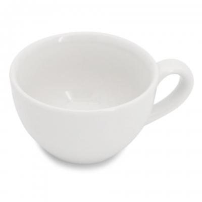 Cappuccinotasse mit glattem Henkel 0,18l Classic Weiß Walküre Weiß