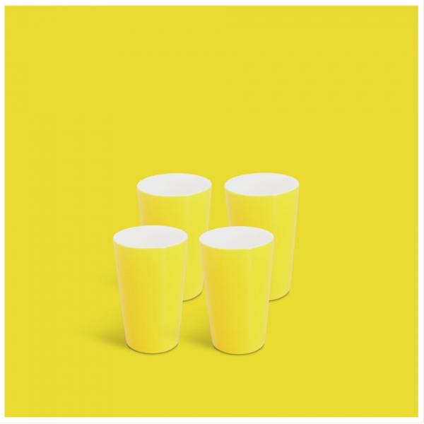 Milchbecher-Set 4tlg. Classic Gelb