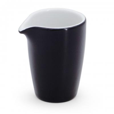Milchkännchen, 0,06l Alta Schwarz Walküre Porzellan