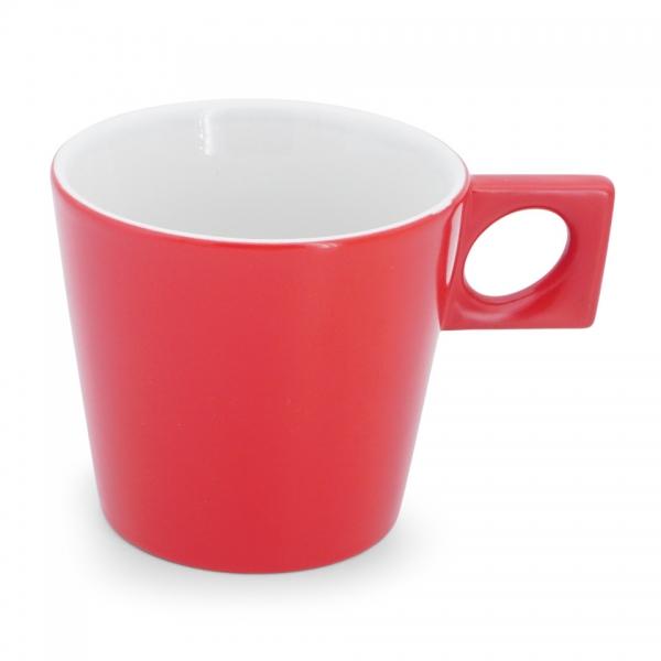 Cafe au lait Tasse, 0,35l NYNY Feuerrot Walküre Porzellan