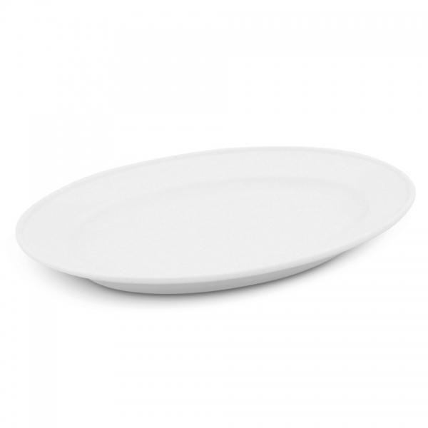 Platte oval, 23cm Buffet Weiß