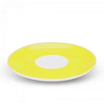 Milchkaffee Untertasse, 16cm Alta Gelb Spiegel Weiß Walküre Porzellan