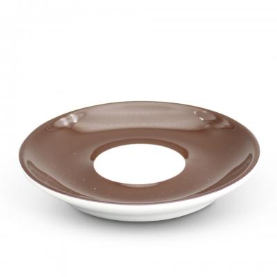 Espresso Untertasse 11,5cm Alta Dunkelbraun Spiegel Weiß Walküre Porzellan