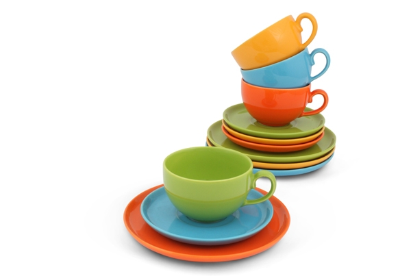 Happymix Kaffee-Set Bunt Steingut von Friesland Porzellan