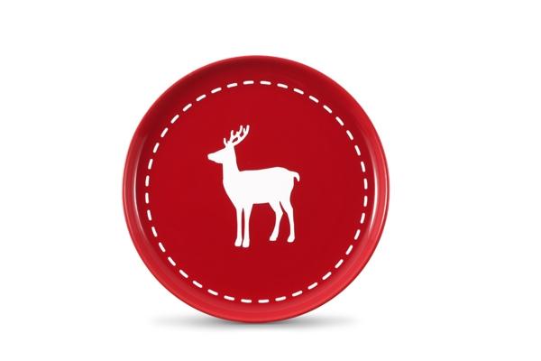 4er-Set Frühstückste.Hirsch Happymix Weihnachten Rot