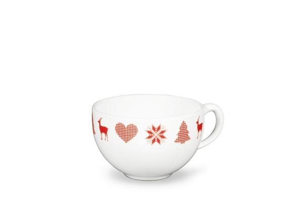 Kaffeetasse Happymix Winterzauber mit Adventsmotiv von Friesland