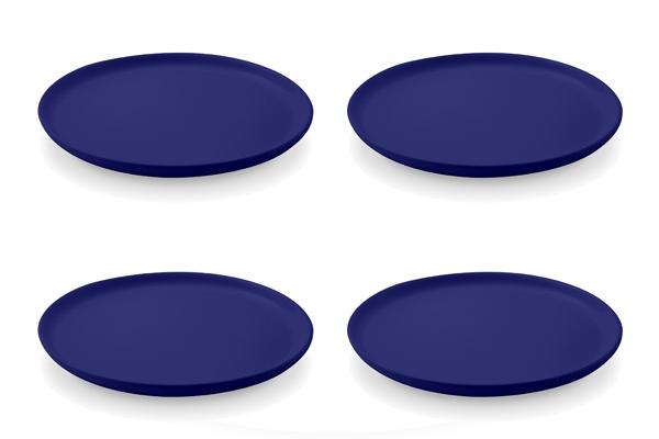 Viererset Frühstücksteller Blau von Friesland