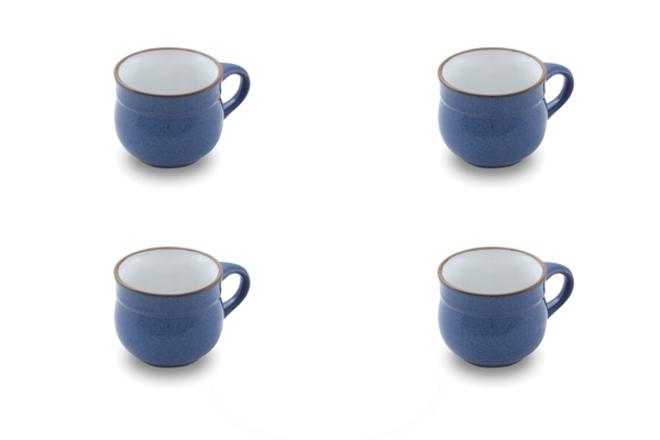 Viererset kleine Kaffeetassen Ammerland Blue Friesland