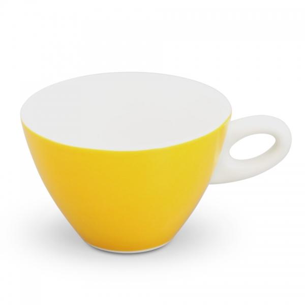 Milchkaffeetasse, 0,25l Alta Gelb Henkel Weiß