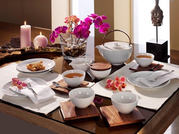 Chai Nussbaum Holz Tee-Service Friesland