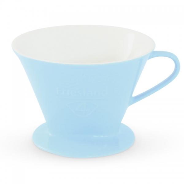 Porzellan Kaffeefilter Friesland Größe 4 Pastellblau