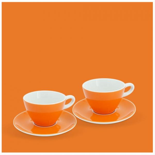 Milchkaffee-Set 4tlg. Alta Leuchtorange